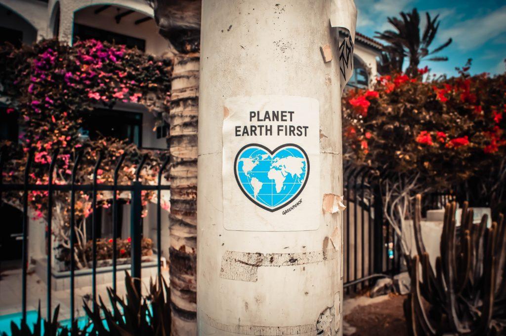 Planet comes first Plakat Heartplanet für Planet comes first Plakat Heartplanet für ökologischen Alltag