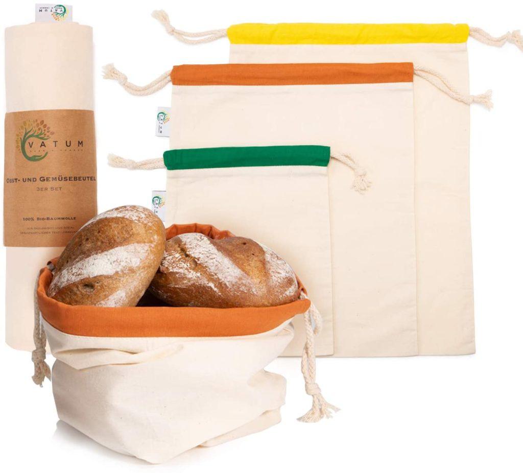Wiederverwendbare nachhaltige Brotbeutel